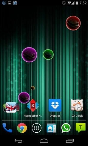 Neon Bubble Live Wallpaper - анимированные обои на Galaxy S4