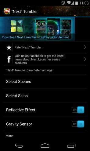 Next Tumbler - анимированные обои на Галакси С4