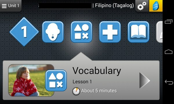 Rosetta Course - приложение на Samsung Galaxy S4