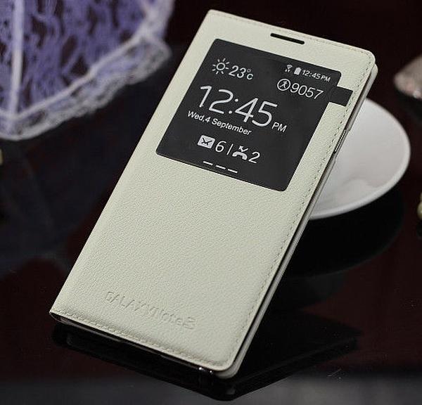 Белый S View Cover для Galaxy Note 3