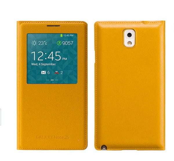 Желтый S View Cover для Galaxy Note 3