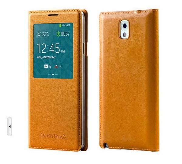 Коричневый S View Cover для Galaxy Note 3