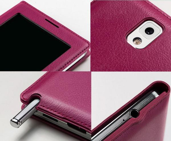 Бардовый S View Cover для Galaxy Note 3