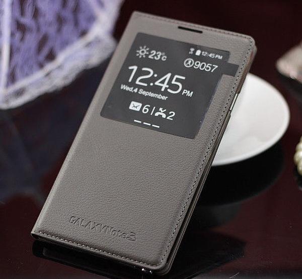 Серый S View Cover для Galaxy Note 3