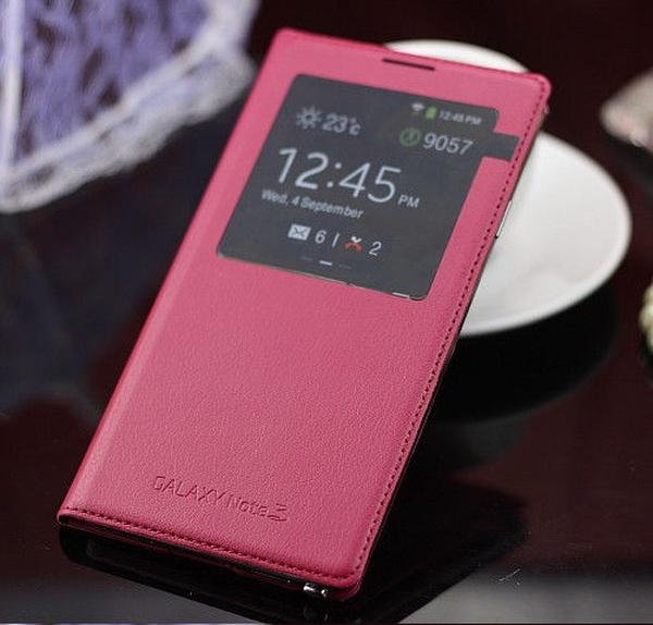 Розовый S View Cover для Galaxy Note 3
