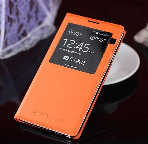 Оранжевый S View Cover для Galaxy Note 3