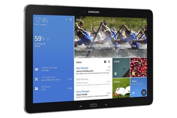 Samsung Galaxy Note Pro 12.2 - лицевая панель