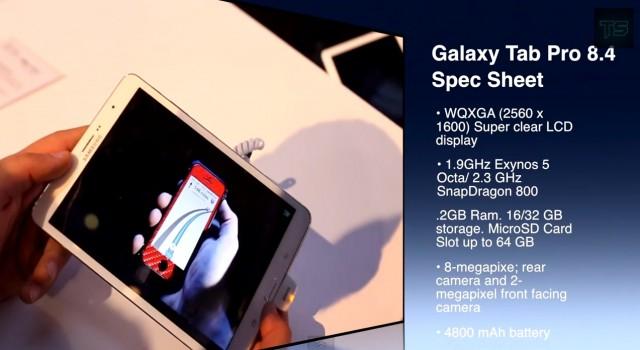 Samsung Galaxy Tab Pro 8.4 - видео и характеристики