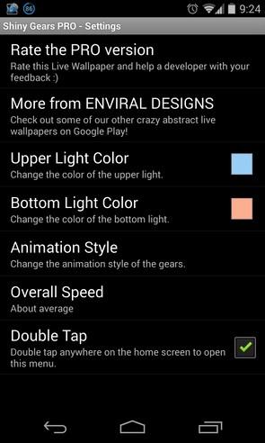 Shiny Gears - интерактивные обои на Android