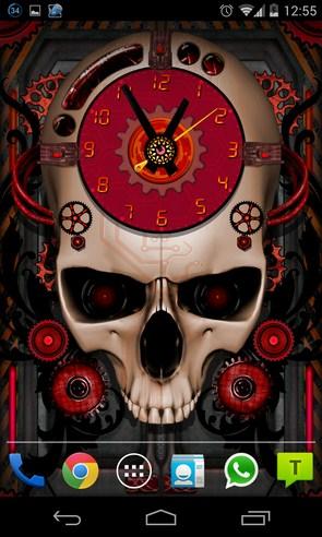 Steampunk Clock Live Wallpaper - интерактивные обои на android