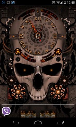Steampunk Clock Live Wallpaper - живые обои на Галакси С4