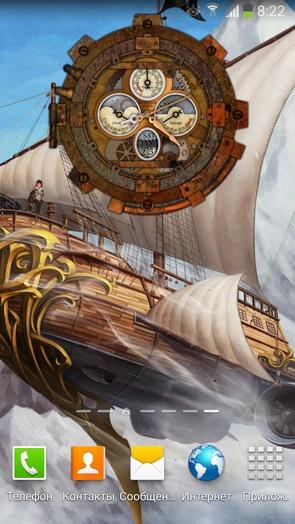Живые обои Steampunk Watch Wallpaper 2