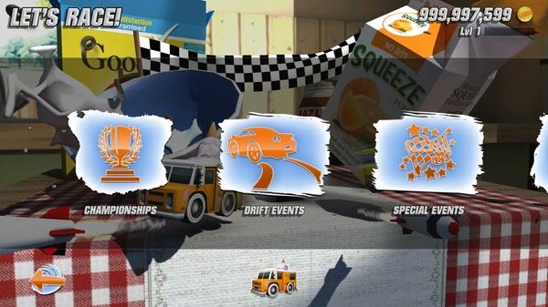 Table Top Racing - типы гонок