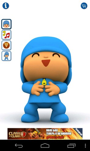 Talking Pocoyo - говорящий ребенок на Android
