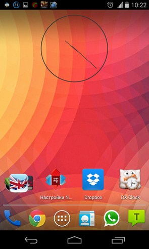 Ultra Thin Clock Widgets - виджет часов на Galaxy S4