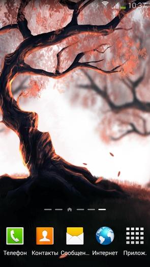 Woody Land - живые обои с деревом