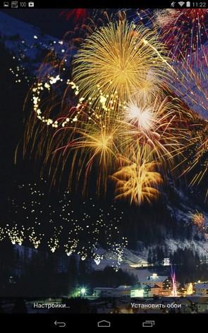 Fireworks Live Wallpaper – ночные фейерверки для Samsung Galaxy S4, S3