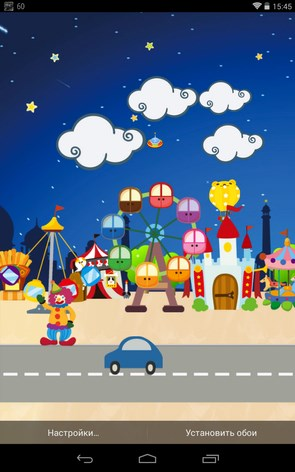 Happy Park Live Wallpaper – веселый парк для Samsung Galaxy S4, S3
