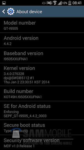 Обновление I9505XXUFNB8 для Galaxy S4 I9505