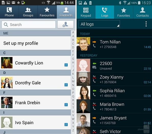 Сравнение интерфейса пользователя TouchWiz в Galaxy S5 и Galaxy S4