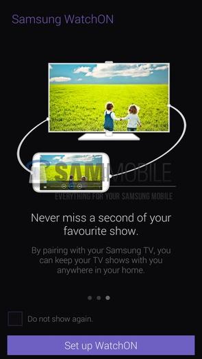 Обновление версии Samsung WatchON из Galaxy S5