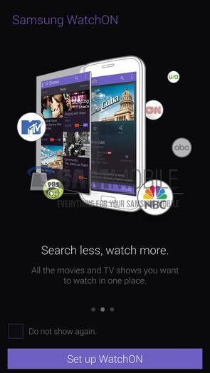Скриншоты новой версии Samsung WatchON из Galaxy S5