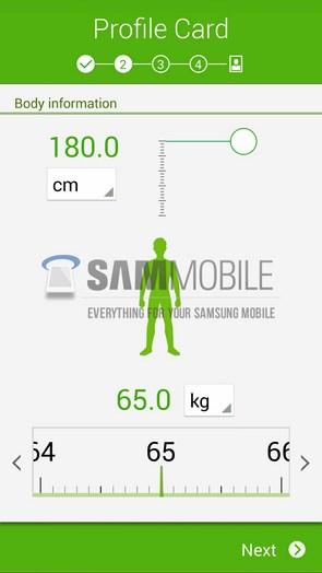 Обновленный интерфейс приложения Samsung S-Health из Galaxy S5 SM-G900H