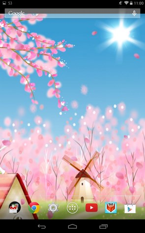 Sakura Live Wallpaper – красивое цветение сакуры на экране Samsung Galaxy Note 3