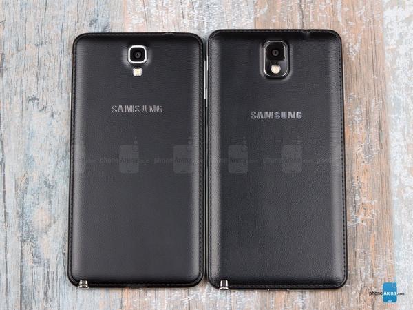 Samsung Galaxy Note III vs Galaxy Note 3 Neo - задние крышки