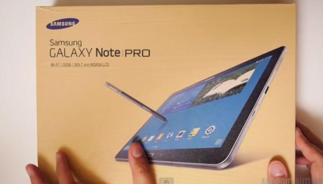 Распаковка Samsung Galaxy Note Pro 12.2