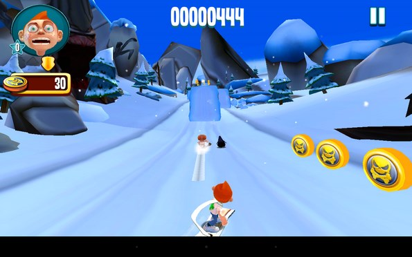 Skiing Fred – раннер на сноуборде для Samsung Galaxy Note 3, Galaxy S4