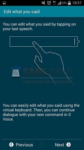 Обновленный интерфейс S Voice с прошивки Galaxy S5