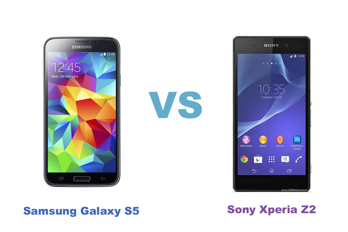 Сравнение смартфонов Samsung Galaxy S5 vs Sony Xperia Z2