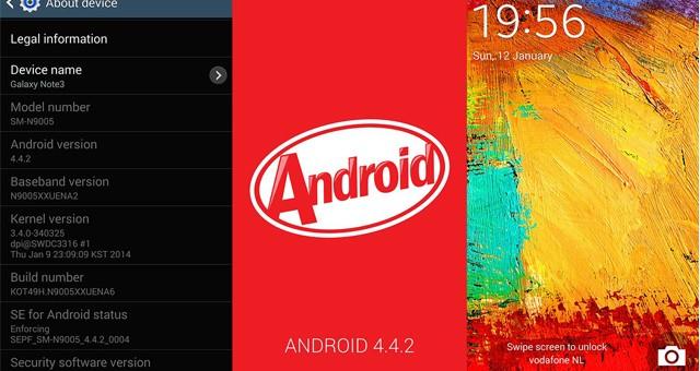 Списокустройств Ряд устройств Samsung Galaxy которые получат Android 4.4 KitKat