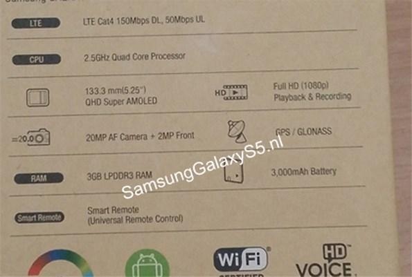 Характеристики Samsung Galaxy S5 SM-G900R4