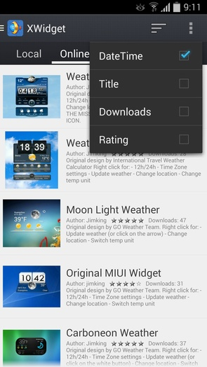 XWidget - виджеты погоды