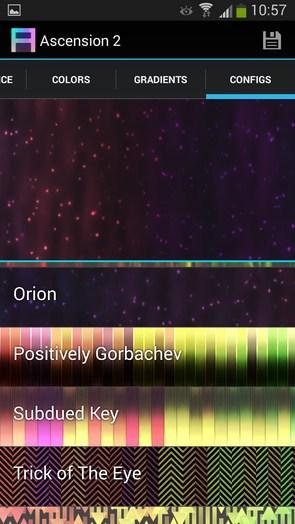 Ascension 2 – переливающиеся элементы для Galaxy S5, S4, S3, Note 3, Ace 2