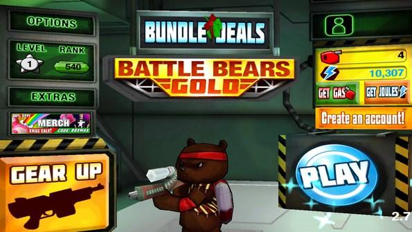 Battle Bears Gold – медвежьи войны для Samsung Galaxy S5, S4, Note 3