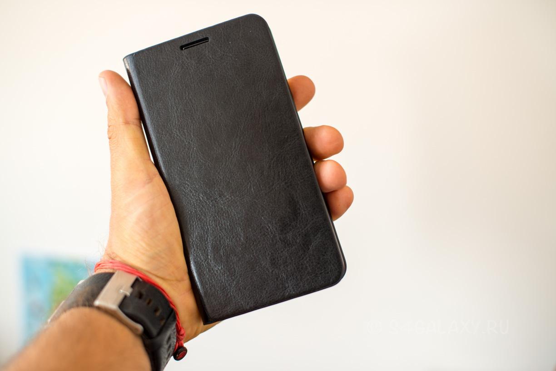 Кейс из черной кожи для Samsung Note 3
