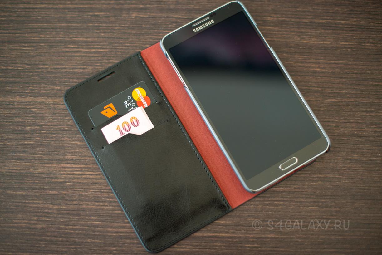 Чехол-кошелек для Galaxy Note 3
