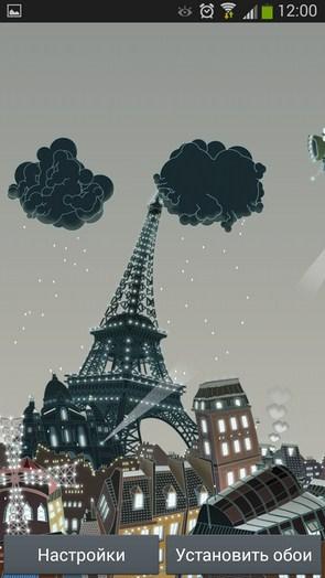 Paris Winter – абстрактный Париж для Galaxy S5, S4, S3, Note 3, Ace 2