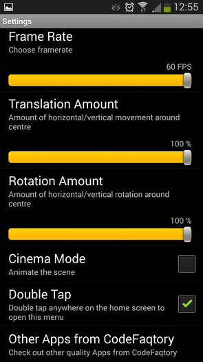Super Parallax 3D Pro – трехмерный эффект для Galaxy S5, S4, S3, Note 3, Ace 2