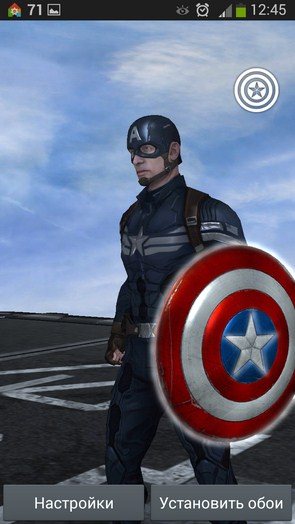 Captain America TWS – герой на экране для Samsung Galaxy Note 3, S5, S4, S3