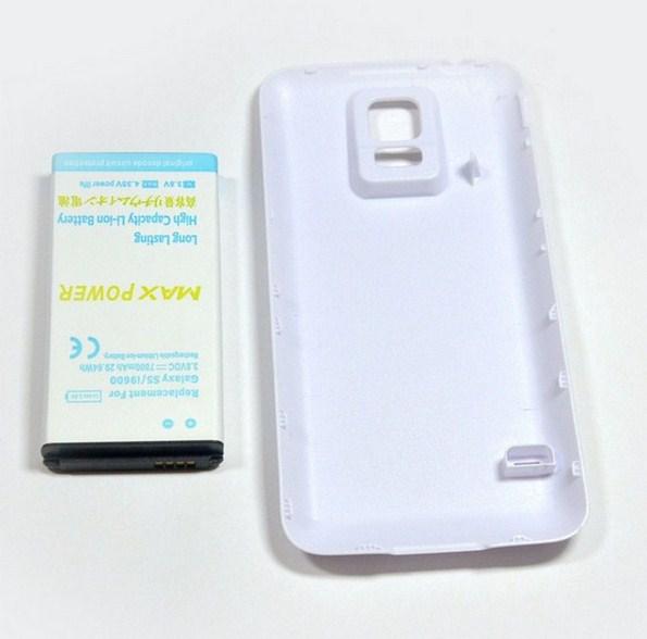 Усиленный аккумулятор емкостью 7800 мАч для Самсунг Галакси С5