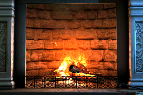 Fireplace 3D – огонек в камине для Samsung Galaxy S5, S4, Note 3