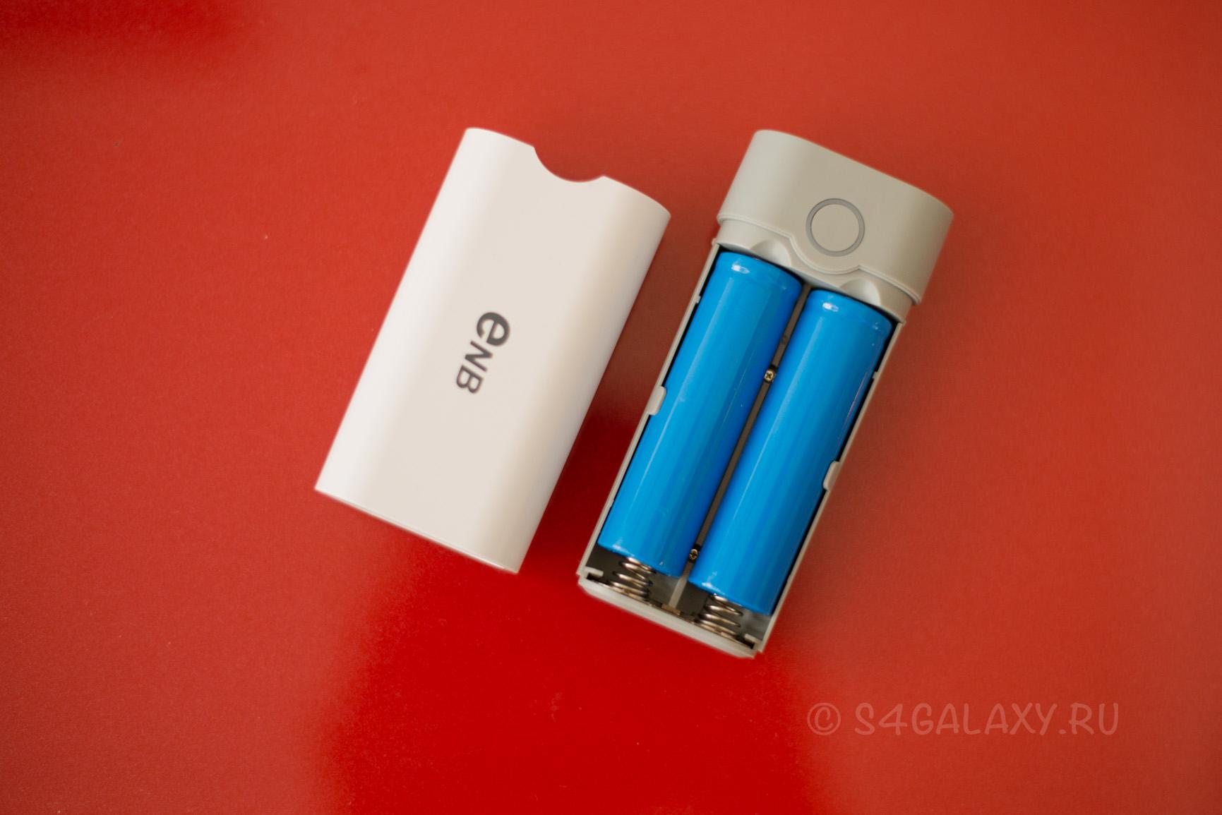 2 батареи 18650 и повербанк
