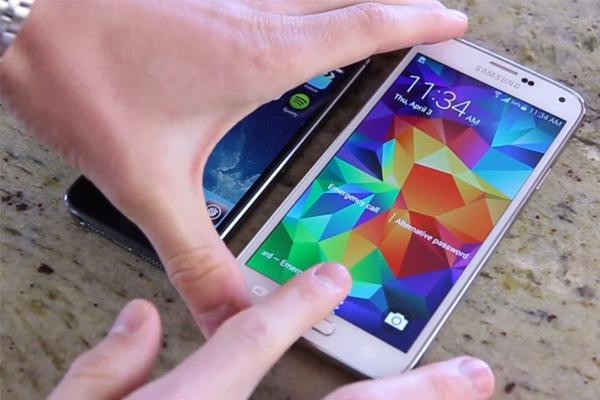 Samsung Galaxy S5 vs iPhone 5S - функционирвоание сканеров отпечатка пальца