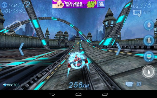 Space Racing 3D – гонки на космолетах для Samsung Galaxy Note 3, S5, S4, S3