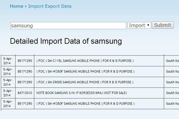Смартфоны Samsung SM-C115L, SM-W350F и SM-Z9005 проходят испытания в Индии