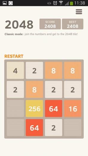 2048 Puzzle – числовая головоломка для Galaxy S5, S4, S3, Note 3, Ace 2